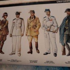 Militaria: UNIFORMES DE LA GUERRA DE ESPAÑA - AÑO 1971 - 33 X 27 CM. Lote 185737811