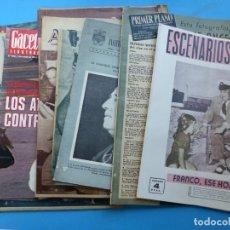 Militaria: FRANCISCO FRANCO Y FAMILIA, 11 ANTIGUAS REVISTAS, AÑOS 1940-1950-1960 Y 1970 - VER FOTOS ADICIONALES. Lote 187091616
