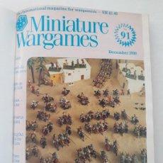 Militaria: REVISTA MINIATURE WARGAMES ( MINIATURAS JUEGO GUERRA). 12 NUMS ENCUADERNADOS EN UN TOMO. AÑO 1991. Lote 187390988