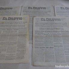 Militaria: * LOTE 5 ANTIGUOS DIARIOS REPUBLICANOS EL DILUVIO, GUERRA CIVIL. ORIGINALES. ZX. Lote 187398193