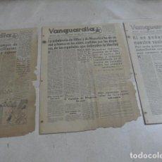 Militaria: * LOTE 3 DIARIO COMISARIADO DEL EJERCITO DE LEVANTE, VANGUARDIA, REPUBLICANOS, GUERRA CIVIL. ZX. Lote 187398273