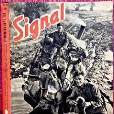 Militaria: REVISTA SIGNAL. 1941. NUMERO 18. 2ª QUINCENA DE SEPTIEMBRE. EDICION EN FRANCÉS.. Lote 191824953