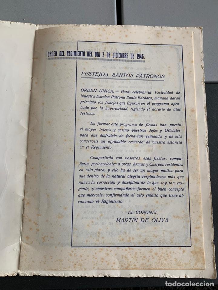 Militaria: Regimiento de Artillería. 1946. Festejos De Santa Barbara ( Calatayud) - Foto 2 - 192342865