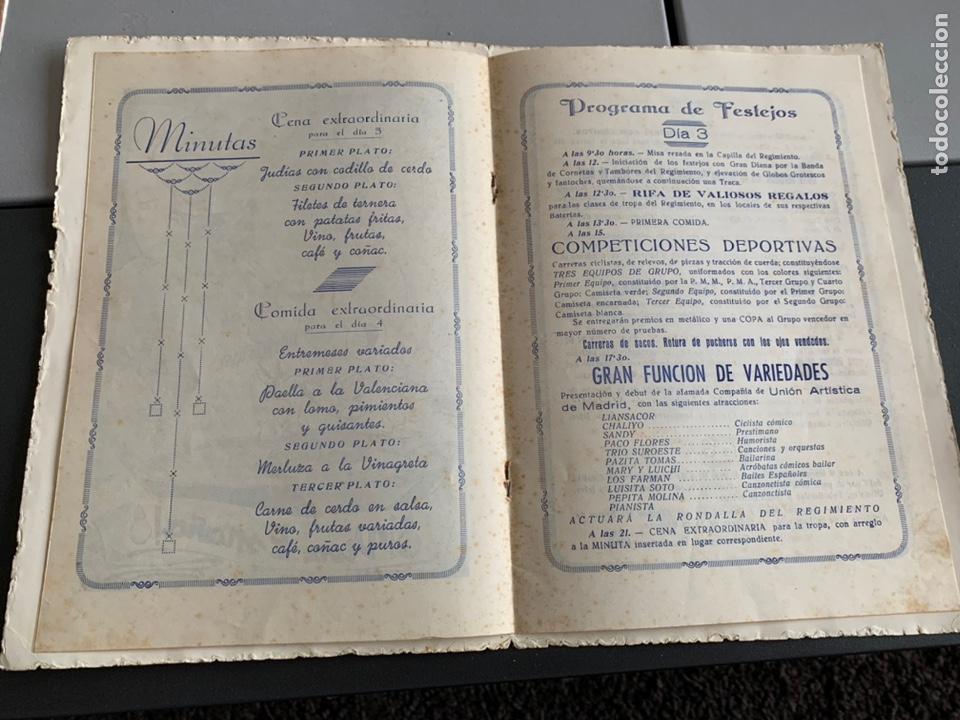 Militaria: Regimiento de Artillería. 1946. Festejos De Santa Barbara ( Calatayud) - Foto 4 - 192342865