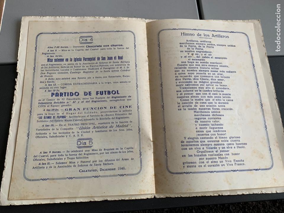 Militaria: Regimiento de Artillería. 1946. Festejos De Santa Barbara ( Calatayud) - Foto 5 - 192342865