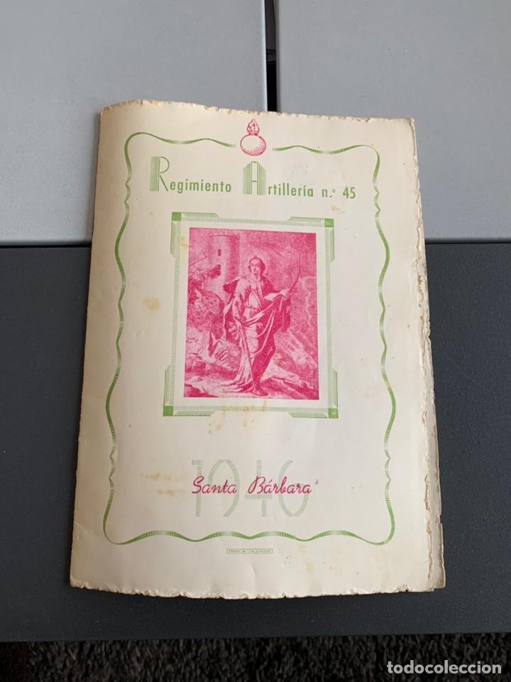REGIMIENTO DE ARTILLERÍA. 1946. FESTEJOS DE SANTA BARBARA ( CALATAYUD) (Militar - Revistas y Periódicos Militares)