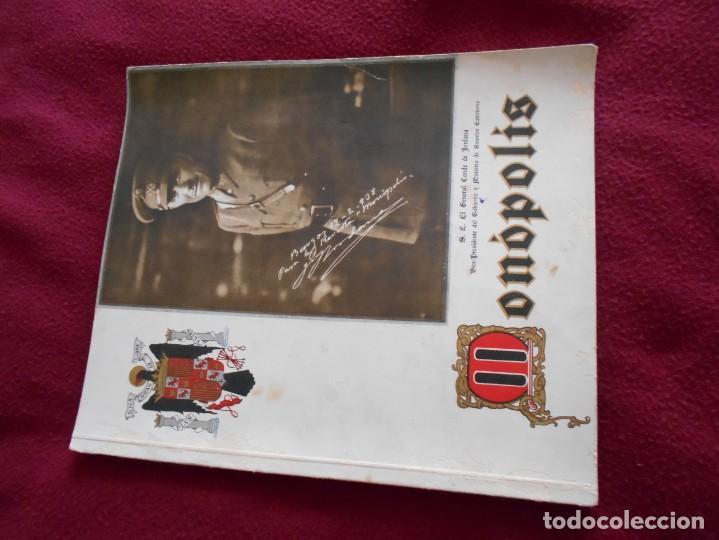 REVISTA GUERRA CIVIL MONOPOLIS AÑO 1937 EDITADA EN MALAGA (Militar - Revistas y Periódicos Militares)