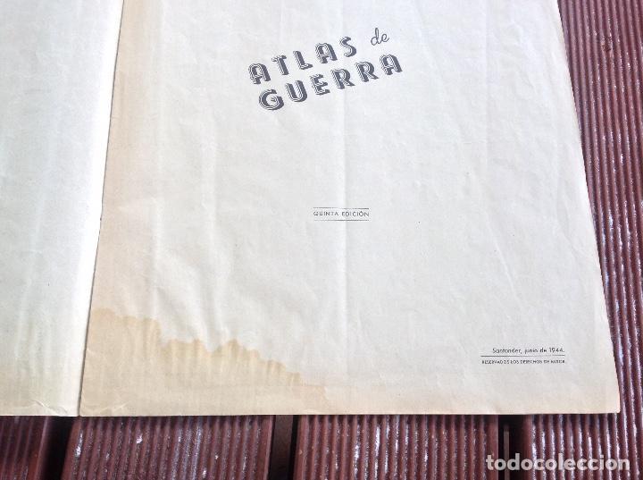 Militaria: ATLAS DE GUERRA - JUNIO DE 1944 -QUINTA EDICION SANTANDER - Foto 2 - 194301998
