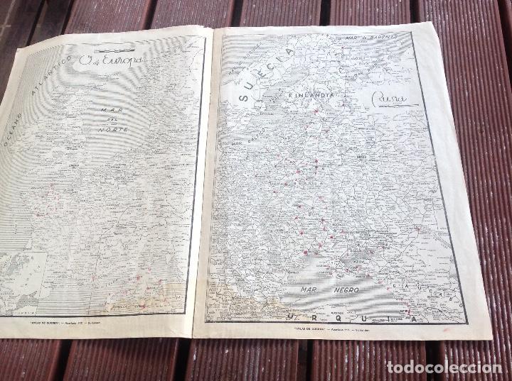 Militaria: ATLAS DE GUERRA - JUNIO DE 1944 -QUINTA EDICION SANTANDER - Foto 3 - 194301998