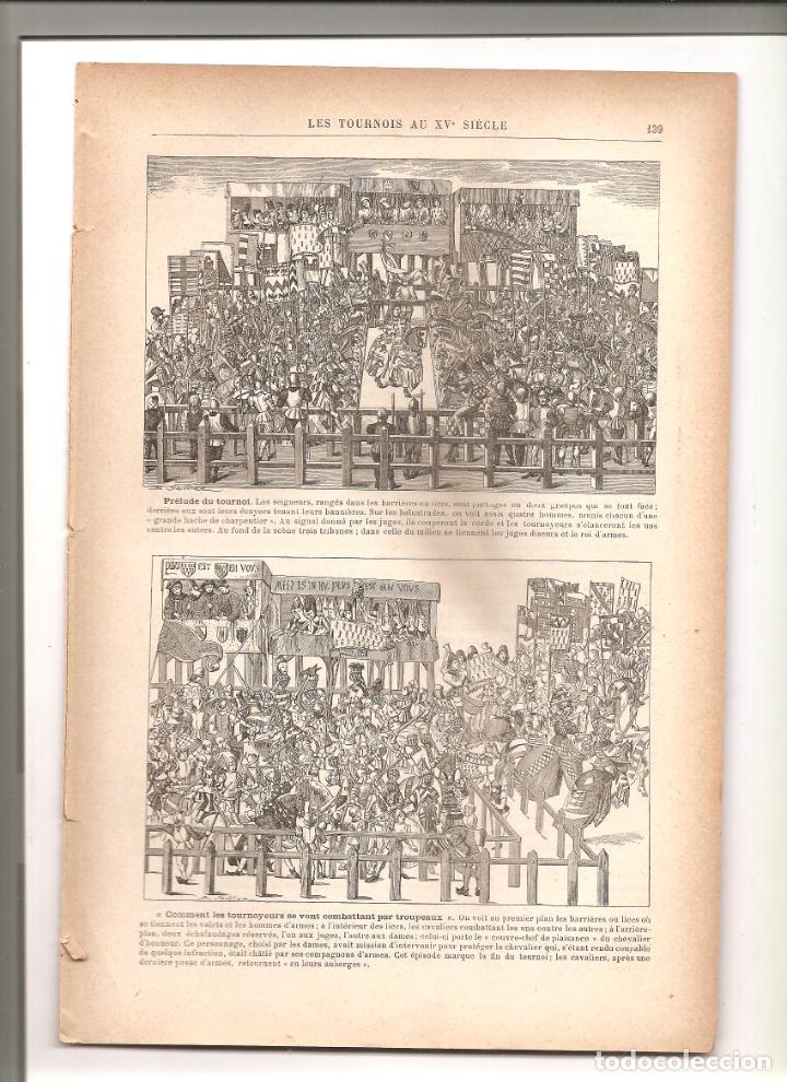 Militaria: 1144. GUERRA CHINO JAPONESA. TORNEO MEDIEVAL. PUBLICADO EN 1896 - Foto 6 - 194331110