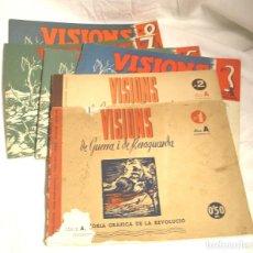 Militaria: VISIONS DE GUERRA I RERAGUARDA, SERIE A COMPLETA DEL Nº 1 AL 8. EDICIÓN CATALÁN-CASTELLANO. Lote 194361777