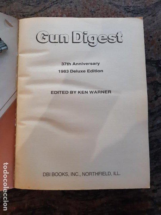 Militaria: LIBRO ANUARIO ARMAS USA. GUN DIGEST 37 ANNIVERSARY 1983 DELUXE EDITION. USADA BUEN ESTADO. - Foto 2 - 194381310