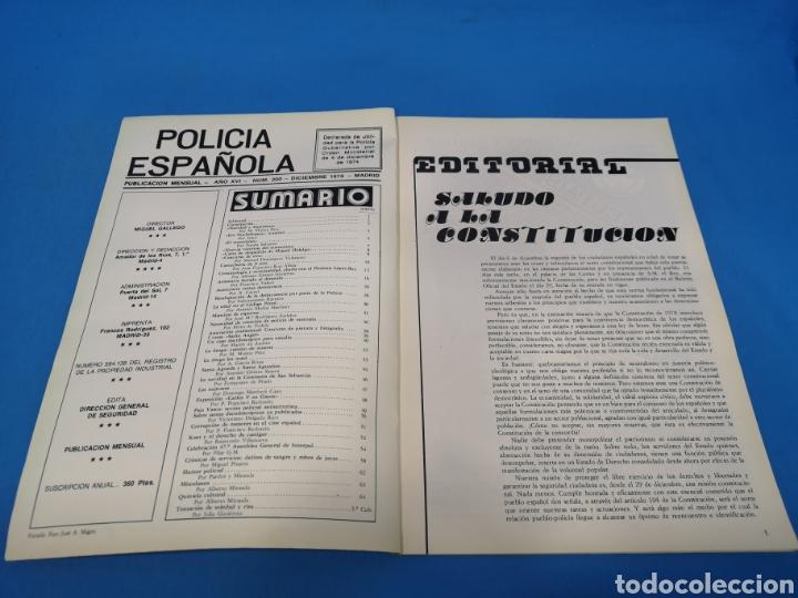 Militaria: REVISTA POLICÍA ESPAÑOLA, NÚMERO 200, AÑO 1978 - Foto 2 - 194768337