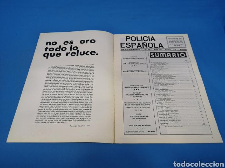 Militaria: REVISTA POLICÍA ESPAÑOLA, NÚMERO 192, AÑO 1978 - Foto 2 - 194768866