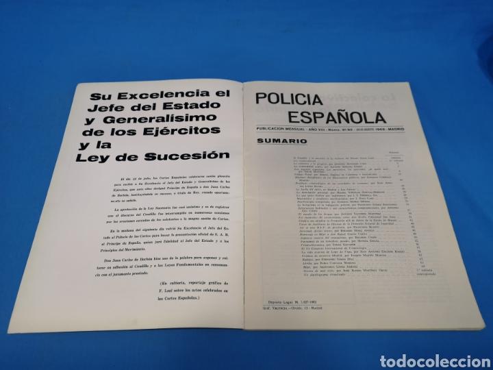 Militaria: REVISTA POLICÍA ESPAÑOLA, NÚMERO 91 y 92, AÑO 1969 - Foto 2 - 194769500