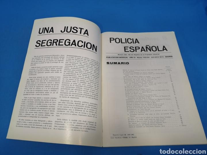 Militaria: REVISTA POLICÍA ESPAÑOLA, NÚMERO 103-104, AÑO 1970 - Foto 2 - 194770150