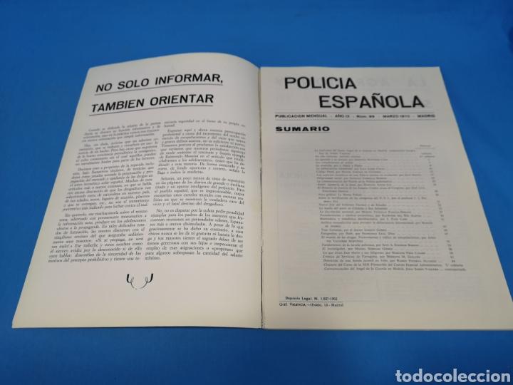 Militaria: REVISTA POLICÍA ESPAÑOLA, NÚMERO 99, AÑO 1970 - Foto 2 - 194771327