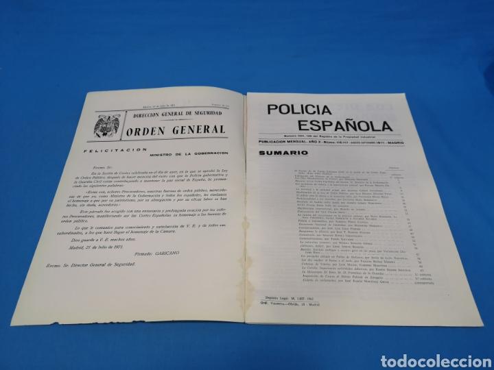 Militaria: REVISTA POLICÍA ESPAÑOLA, NÚMERO 116-117, AÑO 1971 - Foto 2 - 194774826