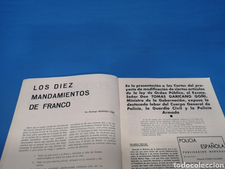 Militaria: REVISTA POLICÍA ESPAÑOLA, NÚMERO 116-117, AÑO 1971 - Foto 3 - 194774826