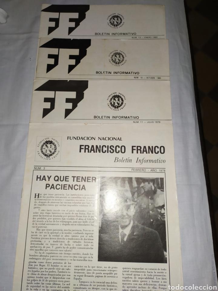 4 EJEMPLARES DE FUNDACIÓN FRANCISCO FRANCO 1980/1979/1978 (Militar - Revistas y Periódicos Militares)