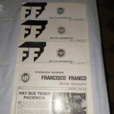 Militaria: 4 EJEMPLARES DE FUNDACIÓN FRANCISCO FRANCO 1980/1979/1978. Lote 194888552