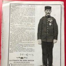 Militaria: SOLDADO MEDALLA LAUREADA DE SAN FERNANDO - GUERRA DE AFRICA - AÑO 1915 REVISTA BLANCO Y NEGRO. Lote 194958645