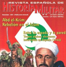 Militaria: REVISTA ESPAÑOLA DE HISTORIA MILITAR NUMERO 17 ABD EL KRIM REBELION EN EL ISLAM. Lote 195092025