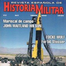 Militaria: REVISTA ESPAÑOLA DE HISTORIA MILITAR NUMERO 87 FOCKE WULF FW 56 STOSSER. Lote 195092841