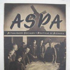 Militaria: ASPA - ACTUALIDADES SOCIALES Y POLÍTICAS DE ALEMANIA - Nº 125 - AGOSTO DE 1942.. Lote 195214476