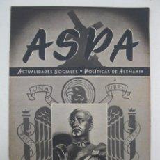 Militaria: ASPA - ACTUALIDADES SOCIALES Y POLÍTICAS DE ALEMANIA - Nº 117 - ABRIL DE 1942.. Lote 195215035