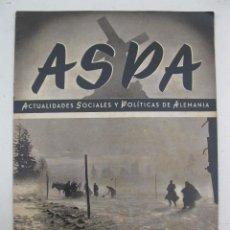 Militaria: ASPA - ACTUALIDADES SOCIALES Y POLÍTICAS DE ALEMANIA - Nº 112 - ENERO DE 1942.. Lote 195215978