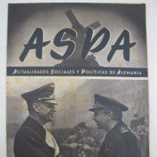 Militaria: ASPA - ACTUALIDADES SOCIALES Y POLÍTICAS DE ALEMANIA - Nº 109 - DICIEMBRE DE 1941.. Lote 195216400