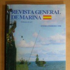Militaria: REVISTA GENERAL DE MARINA - ENERO-FEBRERO 1998. Lote 195380880