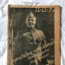 Militaria: SEMANARIO GRAFICO FOTOS Nº34 1937, GUERRA CIVIL, GRANDEZA Y TRAGEDIA DE OVIEDO 1934-36, COVADONGA, M. Lote 197244747