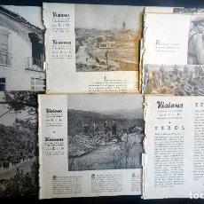 Militaria: LOTE DE 5 PUBLICACIONES,VISIONS DE GUERRA , SERIE B, GUERRA CIVIL,+ HOJAS SUELTAS, VER FOTOS. Lote 198327165