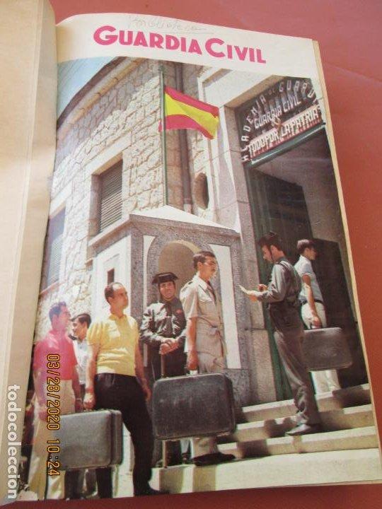 GUARDIA CIVIL 12 REVISTAS Nº 321 AL 332 -ENERO -DICIEMBRE 1971 ECUADERNADAS BUEN ESTADO (Militar - Revistas y Periódicos Militares)