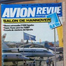 Militaria: AVION REVUE INTERNACIONAL. 49. JULIO 1986. Lote 199037165