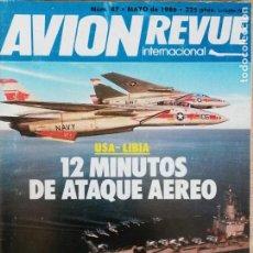 Militaria: AVION REVUE INTERNACIONAL. 47. MAYO 1986. Lote 199038190