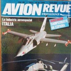 Militaria: AVION REVUE INTERNACIONAL. 40. OCTUBRE 1985. Lote 199038497