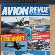 Militaria: AVION REVUE INTERNACIONAL. 37. JULIO 1985. Lote 199039108