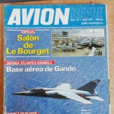 Militaria: AVION REVUE. 133. JULIO 1993. Lote 199039887