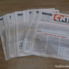 Militaria: LOTE ANTIGUO DE 37 DIARIO ESPOIR, CNT FRANCIA EXILIO, TRANSICION POLITICA.. Lote 200172905