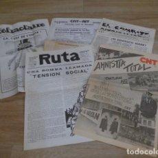Militaria: LOTE ANTIGUO DE DIARIOS DE CNT, TRANSICION POLITICA. VARIEDAD.. Lote 200173265