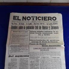 Militaria: PERIÓDICO EL NOTICIERO N°11472 AÑO 1937. Lote 201483423