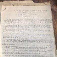 Militaria: CARPETA CONTENIENDO RECORTES DE PRENSA EXTRACTOS DE NOTICIAS INFORMES DE LA GUERRA CIVIL. Lote 203175222