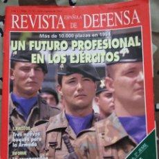 Militaria: REVISTA ESPAÑOLA DE DEFENSA N° 77 - 78 1994 UN FUTURO PROFESIONAL EN LOS EJÉRCITOS. Lote 203798611