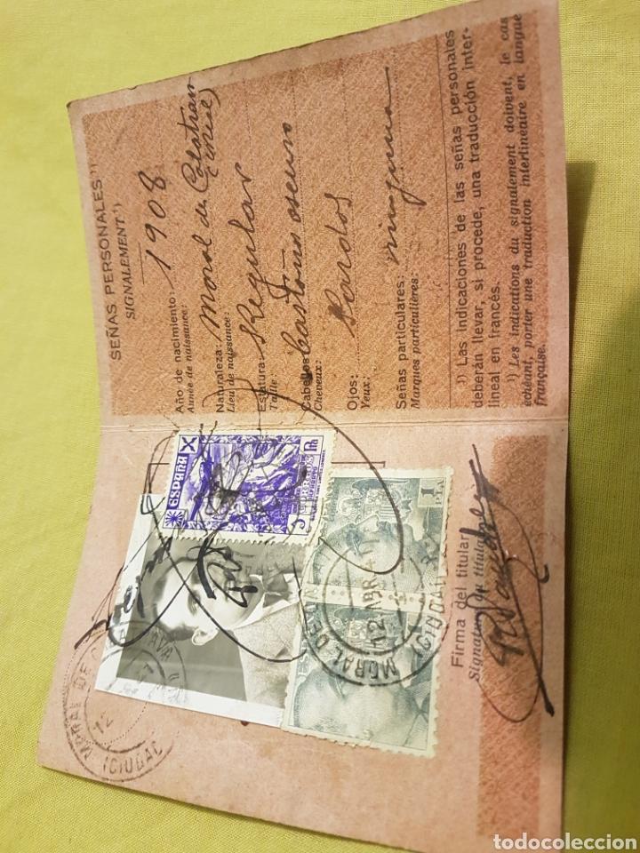 Militaria: Carnet union postal Universal correos 1941 Moral Calatrava Ciudad Real - Foto 2 - 204204365