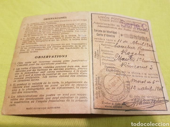 CARNET UNION POSTAL UNIVERSAL CORREOS 1941 MORAL CALATRAVA CIUDAD REAL (Militar - Revistas y Periódicos Militares)