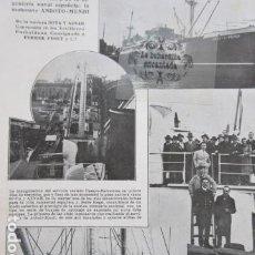 Militaria: ARTICULO 1930 - SOTA Y AZNAR BUQUE NAVE ANBOTO MENDI - ICOD DE LOS VINOS DRAGO MILENARIO TENERIFE. Lote 204273172