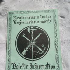 Militaria: BOLETIN INFORMATIVO HERMANDAD LEGIONARIOS. LEGION. MILITAR.EJERCITO.FRANCO.INFANTERIA.FALANGE.ESPAÑA. Lote 205238913
